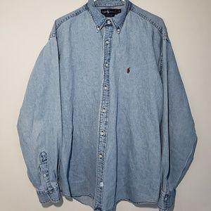 Raulph Lauren Polo Denim 100% Cotton Long Sleeve